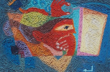 """Painting titled """"""""Hello World"""""""" by Paul Arenas, Original Art,"""