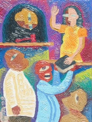 Painting, oil, cubism, artwork by Paul Arenas