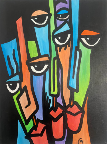 Painting, acrylic, expressionism, artwork by Paulo Martin