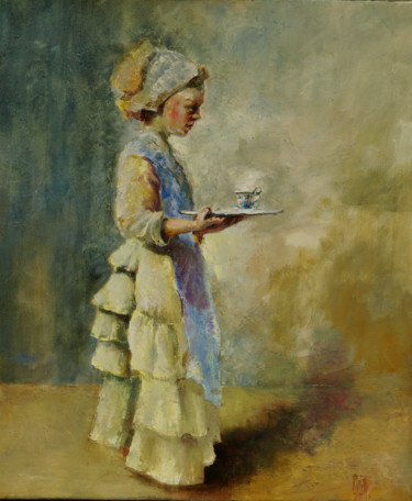 """Painting titled """"hot chocolate"""" by Pavel Filin, Original Art, Oil"""