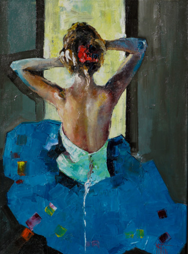Painting, oil, impressionism, artwork by Pavel Filin