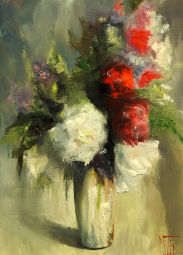 Still life Painting, oil, expressionism, artwork by Pavel Filin