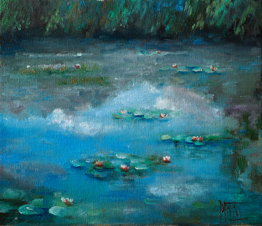 """Painting titled """"silence"""" by Pavel Filin, Original Art, Oil Mounted on Stretcher frame"""
