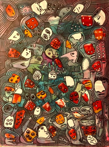 """Painting titled """"Side effects 12"""" by Pavel Kuragin, Original Art, Acrylic"""