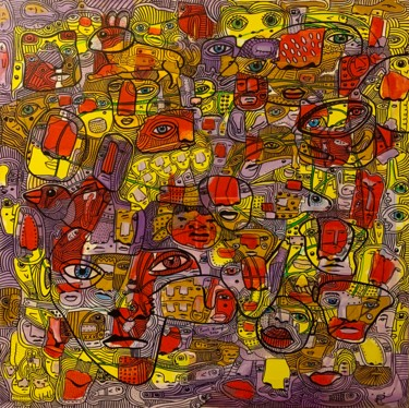 """Painting titled """"Side effects 13"""" by Pavel Kuragin, Original Art, Acrylic"""