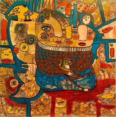 """Painting titled """"Side effects 14"""" by Pavel Kuragin, Original Art, Acrylic"""