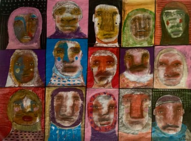 """Painting titled """"You see the people…"""" by Pavel Kuragin, Original Art, Acrylic"""