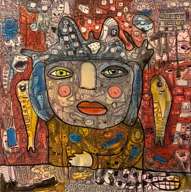 """Painting titled """"Side effects 15"""" by Pavel Kuragin, Original Art, Acrylic"""