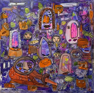 """Painting titled """"Side effects 17"""" by Pavel Kuragin, Original Art, Acrylic"""