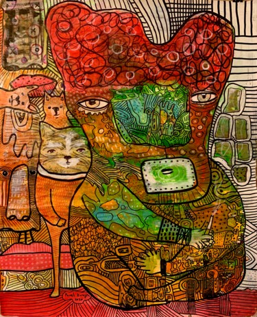 """Painting titled """"Side effects 18"""" by Pavel Kuragin, Original Art, Acrylic"""