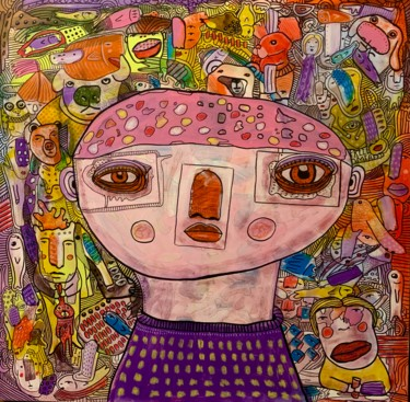 """Painting titled """"Side effects 19"""" by Pavel Kuragin, Original Art, Acrylic"""