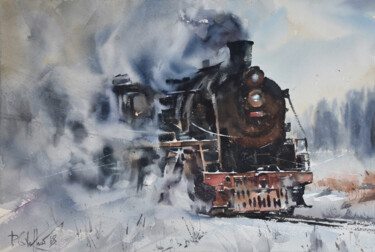 """Painting titled """"Heavy Metal"""" by Pawel Gladkow, Original Art, Watercolor"""