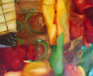 Color Painting, oil, abstract, artwork by Jade
