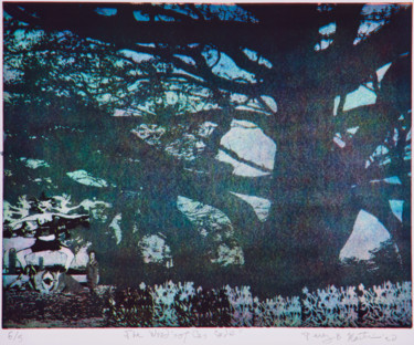 """Printmaking titled """"The Woods of Cascade"""" by Percy Martin, Original Art, Etching"""
