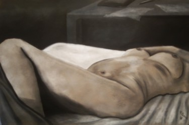 Nude Drawing, pastel, figurative, artwork by Anthony Perez
