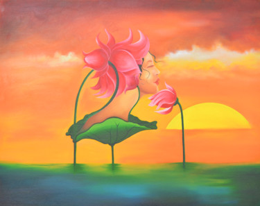 """Painting titled """"dREaM tO mELt - oIL…"""" by Chirag Shah, Original Art, Oil"""
