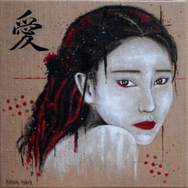 """Painting titled """"Japanese Woman 01"""" by Perrine Poirier, Original Art, Acrylic"""