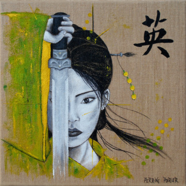 """Painting titled """"Japanese Woman 02"""" by Perrine Poirier, Original Art, Acrylic"""