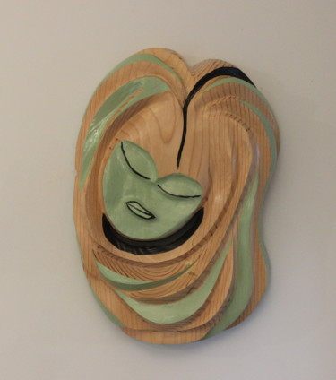 """Sculpture titled """"Earth Lady"""" by Peter Lattey, Original Art, Wood"""