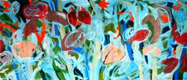 """Painting titled """"Poppies, down-beach…"""" by Peter Jalesh, Original Art, Acrylic"""