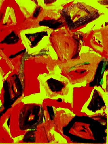 """Painting titled """"Stone-wall (Size 40…"""" by Peter Jalesh, Original Art, Acrylic"""