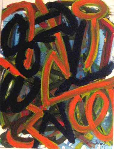 """Painting titled """"Circles and arches…"""" by Peter Jalesh, Original Art, Acrylic"""