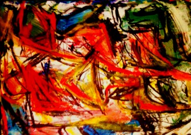 """Painting titled """"Abstract landscape…"""" by Peter Jalesh, Original Art, Acrylic"""