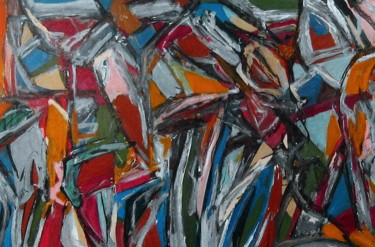 """Painting titled """"Crowd"""" by Peter Jalesh, Original Art, Acrylic"""