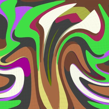 """Digital Arts titled """"Iconic Lily"""" by Peter Jalesh, Original Art, Digital Painting"""