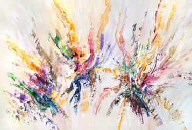 """Painting titled """"Awesome Energy XL 1"""" by Peter Nottrott, Original Art, Acrylic"""