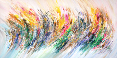 """Painting titled """"Energy Waves XXL 1"""" by Peter Nottrott, Original Art, Acrylic"""