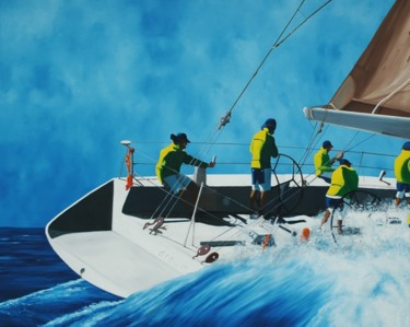"""Painting titled """"Yachting"""" by Peter Seminck, Original Art, Oil"""
