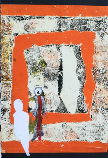 Collages, acrylic, abstract, artwork by Peter Stringer