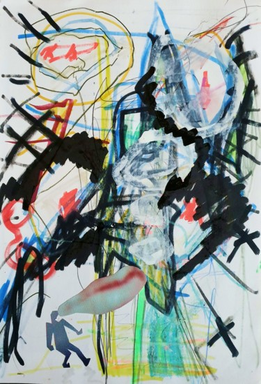 Drawing, marker, abstract, artwork by Peter Stringer