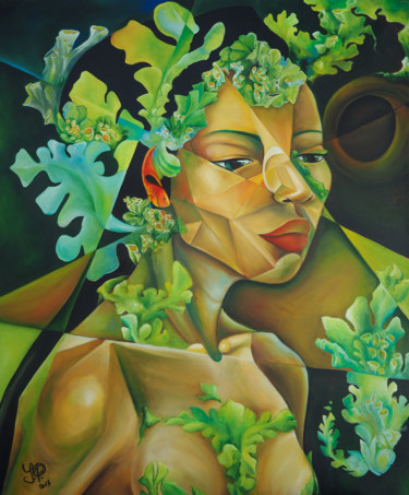 Portrait Painting, oil, fauvism, artwork by Jelena Petkovic