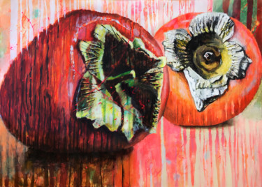 """Painting titled """"Two PERSIMMONS"""" by Petr Ldin, Original Art, Acrylic"""