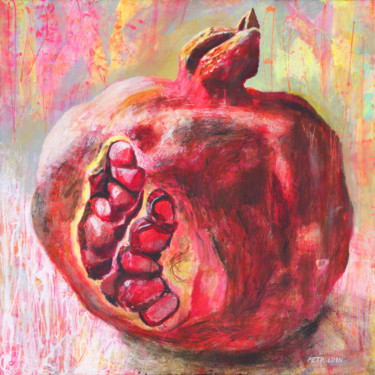 """Painting titled """"The ripe POMEGRANATE"""" by Petr Ldin, Original Art, Acrylic"""