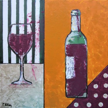 """Painting titled """"Red, red wine"""" by Pepe Villan, Original Art, Acrylic"""