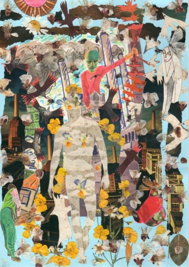 """Collages titled """"SHEEPs."""" by Phil Colisov, Original Art, Other"""