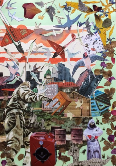 """Collages titled """"Syria."""" by Phil Colisov, Original Art, Other"""