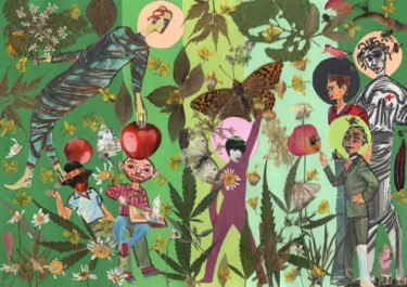 Collages, outsider art, artwork by Phil Colisov