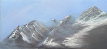 """Painting titled """"Morning in the Alps"""" by Philippe Manson, Original Art, Acrylic Mounted on Stretcher frame"""