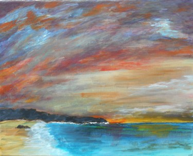 """Painting titled """"Soleil levant d'hiv…"""" by Philippe Viard, Original Art, Acrylic"""