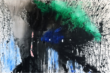 Abstract Painting, oil, abstract, artwork by Philippe Alliet