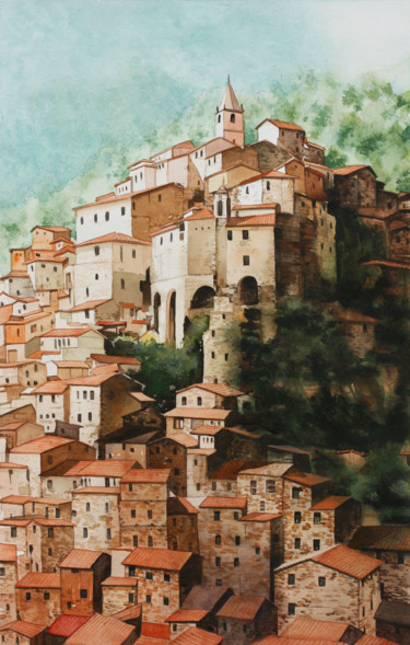 Painting, watercolor, figurative, artwork by Philippe Auger