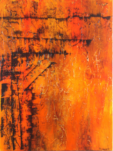 """Painting titled """"KHEOPS"""" by Patrice Varlet, Original Art, Acrylic"""