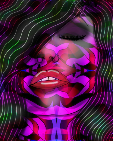 """Digital Arts titled """"Abstract Passion"""" by Photoshopflair, Original Art, 2D Digital Work"""