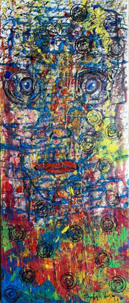 70x30x1.5 cm ©2018 by Isabelle Lagier Pinkivioletblue