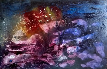 16.1x24.8x0.6 in © by Isabelle Lagier ~ Pinkivioletblue Art®
