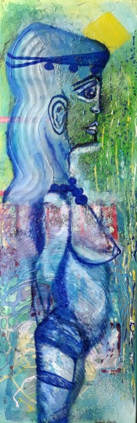 90x30x1.6 cm © by Isabelle Lagier Pinkivioletblue